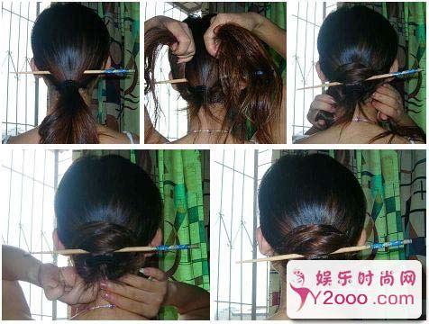 教你12种最简单盘发方法图解_Y2OOO.COM第2张