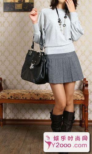 呢子短裙怎么搭配穿出高贵典雅气质_Y2OOO.COM第1张