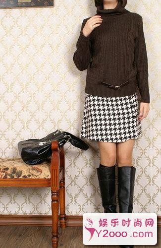 呢子短裙怎么搭配穿出高贵典雅气质_Y2OOO.COM第2张