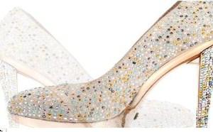 每个新娘都希望自己是完美无瑕的,婚鞋以奢华甜美为主流设计