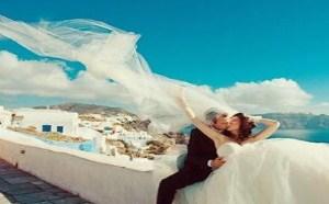 来学习下正确的海岛婚纱照的拍摄姿势吧!