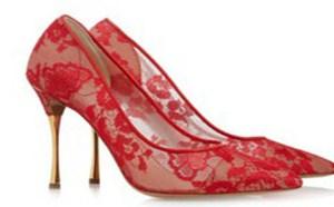 只注重婚纱的挑选而并不在意婚鞋的选择