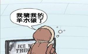 寡妇三代内涵漫画:我猜我的羊水破了!