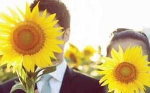 让幸福像花儿一样绽放 向日葵主题婚礼布置效果图