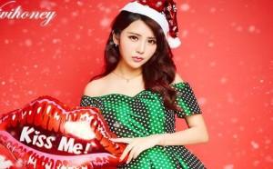 圣诞节快乐!可爱小美女图片萌萌哒